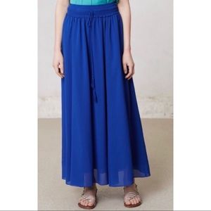 Anthropologie Maeve Royal Blue Maxi Skirt size M